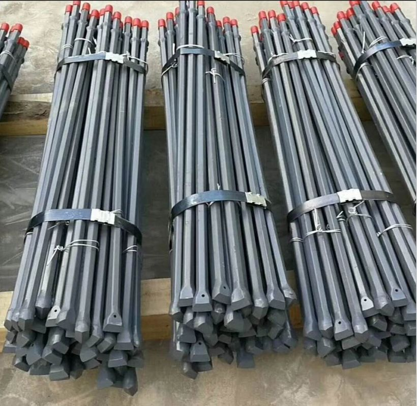 High Strength Alloy Steel Integral Drill Rod For Small Hole Rock Drilling H19 H22 Hex Body