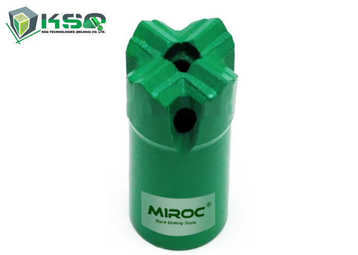 Green Color Tapered Cross Type Bit Metal Drill Bit Forging 45CrNiMoV Material