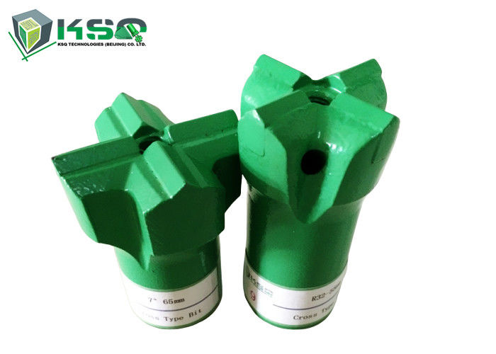 Small Hole Drilling Tools R25-51mm Threaded Cross Bits  For Underground Coal Mining